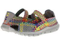 Women's Bernie Mev Comfi Woven Mary Jane Peep Toe Shoes - Multi