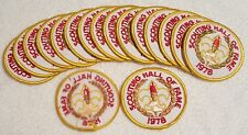 17 Total 1978 Scouting Hall of Fame - Boy Scouts Patch - BSA