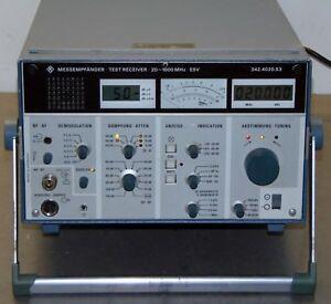 Rohde & Schwarz  ESV 342.4020.53 Test Receiver 20-1000 MHz
