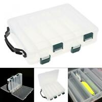 Fishing Lure Box 10-Compartment Double-Sided Adjustable Hook Tackle Box Storage