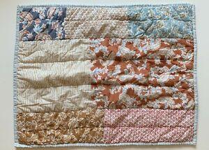 Garnet Hill Floral Quilted Standard Pillow Sham 100% Cotton - NWOT