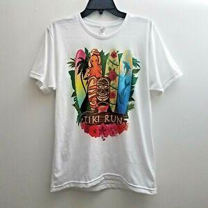American Apparel T-shirt Medium Tiki Run Short Sleeves Multi-color