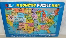 U.S.A. Magnetic Puzzle Map By Ata-Boy Inc Play N Learn Puzzle Board