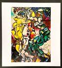 Hand signed signature - Marc Chagall - vintage circa 1970s multi-color print