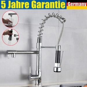 Ausziehbare Gastro Küchenarmatur mit Brause Spültischarmatur Wasserhahn