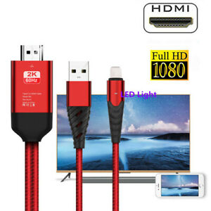For IOS to HDMI Cable HDTV TV Digital AV Adapter for iPhone 11/5/6/7/8/X/XS/XR