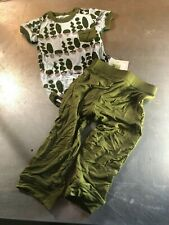 Kickee Pants Bamboo One Piece & Pant Set- Topiary Design- Size:18-24 Months- NWT