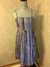 The Gap Purple Gray & Silver Summer Wedding Party Bridesmaid Dress Small