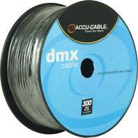 American DJ ADJ Accu-Cable 3-Pin XLR DMX Lighting Cable - Bulk 300 Ft. Spool