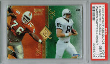 TONY BOSELLI & WARREN SAPP HOF 1995 Playoff Absolute Quads #Q46 RC PSA 10 Pop 3