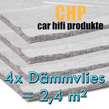 4x Dämmvlies 2,4m² selbstklebend CHP 10mm KFZ Schalldämmung PKW 4 Matten