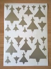 A4 self adhesive Vinyl RAF Eurofighter Typhoon Jet Aircraft Silhouette Stickers