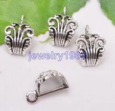 20pcs Tibetan Silver 6mm Hole Bail Bead Fit Charm Bracelet 16x12mm F3031