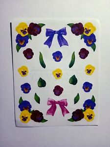 Creative Memories Purple and Yellow Pansy, Floral Sticker Sheets, SCRAPBOOKING