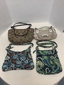 Coach purse lot of 4 purses coach Hangbags/vera bradley bag lot Vera Bradley