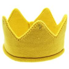 Photography Props Crown Knit Headband Hat Baby Kids Headwear Boys Girl Yellow