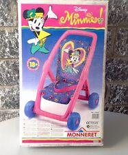 Vintage WALT DISNEY #MONNERET MINNIE mouse passeggino doll stroller poussette