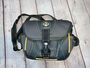 Body Glove by Fellows Small Camera Bag Black Gray Yellow Stitching 6 Pockets