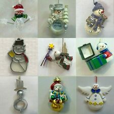S29 SNOWMAN ORNAMENTS each priced separately MANY CHOICES Frosty Winter Season