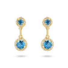 Orecchini di lusso con gemme tondi diamante topazio