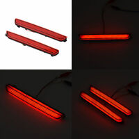 2PCS Car Rear Bumper Red LED Fog Brake Stop Light Warning Lamp For Mazda 2/3/6/8