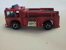 Vintage 1976 HOT WHEELS FIRE-EATER Fire Engine Truck Red Blue Mattel Hong Kong