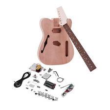 F Soundhole Maple Wood Neck Rosewood Fingerboard DIY Unfinished Guitar L4R5