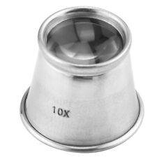 12-Pack 10X 22mm Aluminum Jewelry Optical Eye Loupe Magnifying Glass Lens Vision