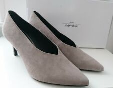 BNIB & Other Stories celine grey suede v cut pointed mid heels pumps shoes 5 38