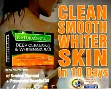 NATURACENTIALS deep cleansing whitening bar Bamboo charcoal peppermint soap.