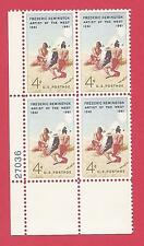 U.S. SCOTT 1187 MNH 4 CENT PLATE BLOCK OF 4 - 1961 - FREDERIC REMINGTON