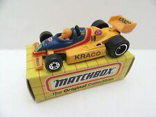 Matchbox Superfast 65d Indy Racing Car - 'Kraco' - Mint/Boxed