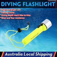 8000lm LED Scuba Diving Flashlight Torch Light Lamp Underwater Max 60m AU