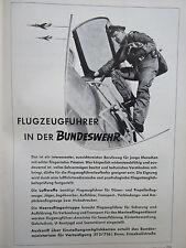 10/1957 PUB BUNDESWEHR LUFTWAFFE PILOT RECRUTEMENT ARMEE AIR ORIGINAL GERMAN  AD