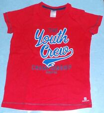 TEE SHIRT ROUGE 5 ANS DOMYOS MANCHES COURTES