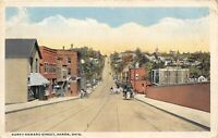 Akron Ohio 1926 Postcard North Howard Street