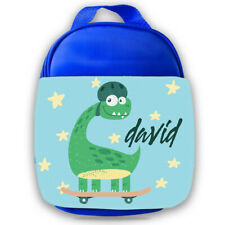 Personalised Dinosaur Kids Lunch Bag Any Name Childrens Boys School Snack Box 1