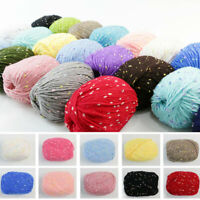 50g Soft Crochet Hand Knit Wool Baby Yarn For Scarf Sweater Gloves Crafts