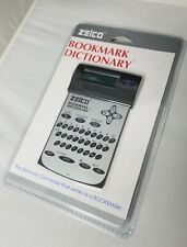 New Nib Zelco Electronic Bookmark Dictionary Ii Handy Compact Travel Reference