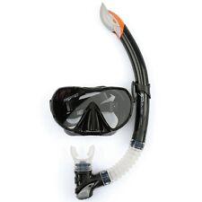 Osprey ADS Frameless Mask and Snorkel Advanced Pro Dive Diving Set, Black