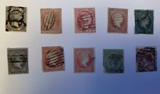 Lot stamps Spain Queen Isabella 1851 1868 10 Stamps