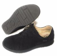 MEPHISTO Runoff Air-Jet System Womens Black Suede Walking Shoes Sneaker Size 10