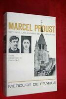 MARCEL PROUST 1871/1903 LES ANNEES DE JEUNESSE par GEORGES D.PAINTER éd.1966