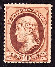 Us 209 10c Jefferson Mint F+ Og Lh Scv $175