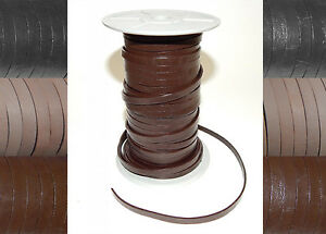 3mm 4mm 5mm 6mm FLAT STRAP 100% REAL LEATHER THONG LACE CRAFT HIDES ROPE STRING