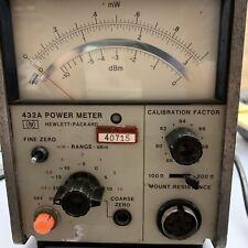 Hp Analog Power Meter 432a Hewlett Packard