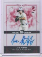 Rare & Sharp 2015 Leaf Clear Mariners Joe Rizzo Rookie Autograph Card 1/5 Made