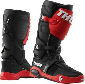 Radial Dirt Bike Boots - Black & Red Men's Size 12 Thor 3410-2249