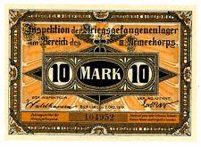 Germany/ Custrin/ Pow ... 10 Mark ... 1917 III Armeekorps ... *UNC*. WWI.