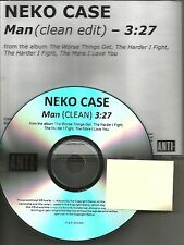 New Pornographers NEKO CASE Man w/ RARE CLEAN EDIT TST PRESS PROMO DJ CD Single
